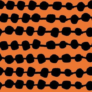 Dots in Rows - Orange/Black by Andrea Lauren