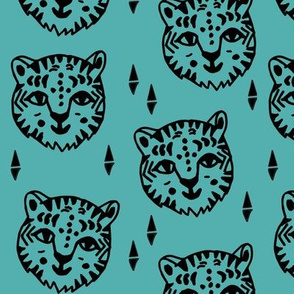 Tiger Face - Tiffany Blue