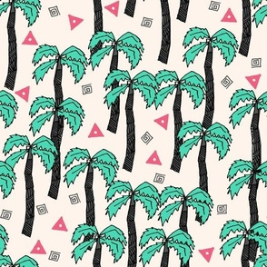 palm trees // palms palm print palm tree tropical pink and green cute summer exotic print