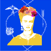 Frida Kahlo (mexican blue) CUSHION COVER