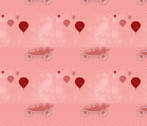 Red scenic route fabric by sewpersonal_designs on Spoonflower - custom fabric