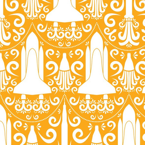 Rocket Science Damask (large orange)