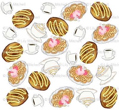 Coffee, Danish and Waffles