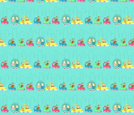 Monkeytraffic fabric by myelephant on Spoonflower - custom fabric