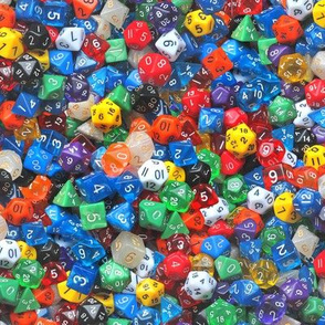 a sea of dice