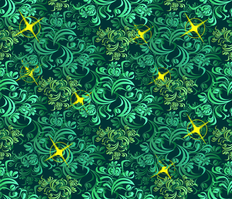 Fireflies fabric by implexity on Spoonflower - custom fabric