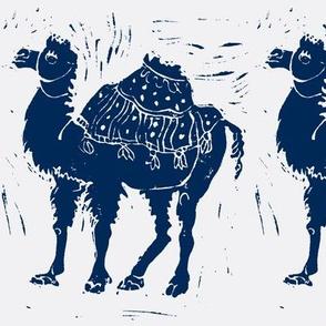 Dark blue Camel on light gray