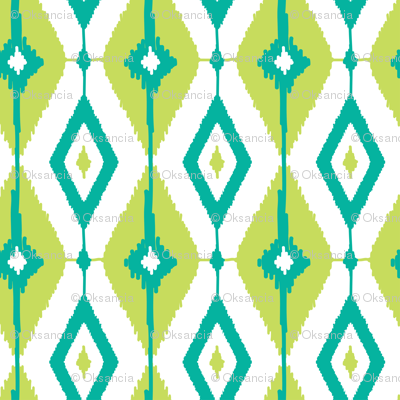 Geometric ikat diamonds
