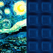 Blue Boxes   Van Gogh's Starry Night Patchwork Quilt Blocks