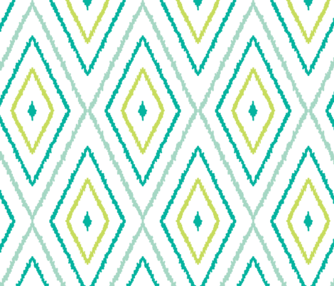 Textured ikat diamonds fabric by oksancia on Spoonflower - custom fabric
