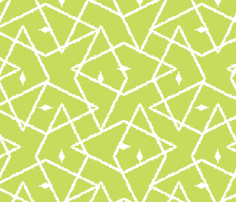 Light Green ikat diamonds fabric by oksancia on Spoonflower - custom fabric