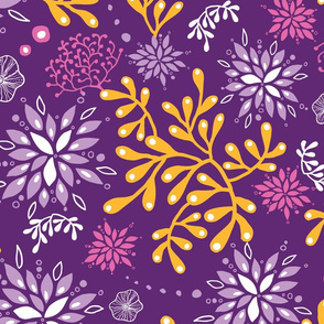 Gold and purple seaweed