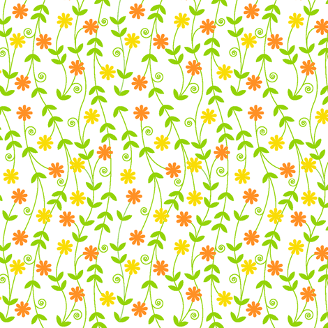 Citrus Vines fabric by holladay on Spoonflower - custom fabric
