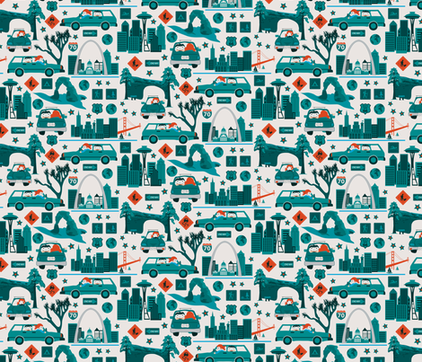 4038 miles fabric by ebygomm on Spoonflower - custom fabric