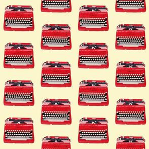 Medium All typed up! typewriter on cream