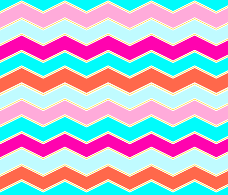 Piped In Chevron fabric by peacoquettedesigns on Spoonflower - custom fabric