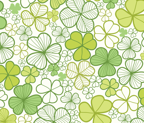Lucky clovers fabric by oksancia on Spoonflower - custom fabric