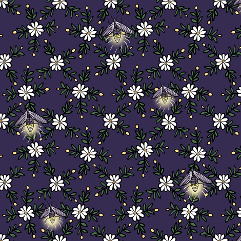 Lightning Bugs fabric by pond_ripple on Spoonflower - custom fabric