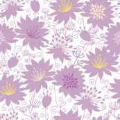 Purple shadow florals