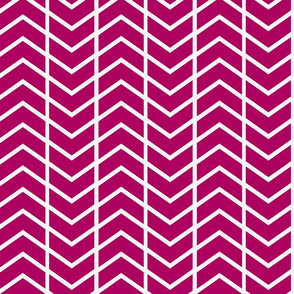 chevron stripe in Haute Pink