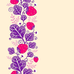 Stawberries matching border