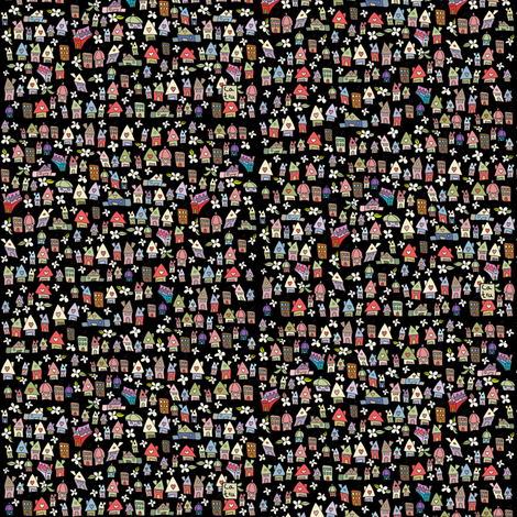 Rocky houses fabric by catru on Spoonflower - custom fabric