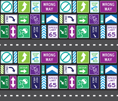 HighwaysByways fabric by ashleytdesign on Spoonflower - custom fabric
