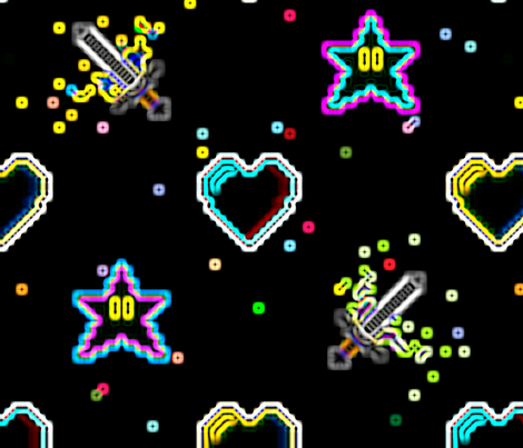 8bitdreamneon fabric by benton on Spoonflower - custom fabric
