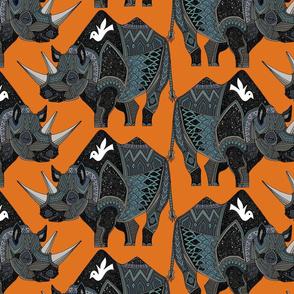 rhinoceros orange