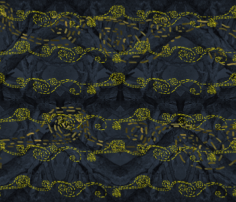 Firefly starry night fabric by helgaprints on Spoonflower - custom fabric