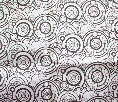 Gallifreyan Black on White