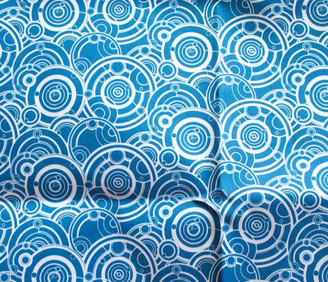 Gallifreyan White on Blue