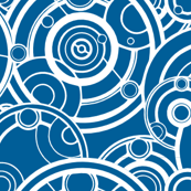 Gallifreyan White on Blue