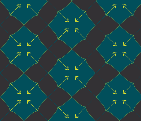 Firefly Argyle fabric by spikymammal on Spoonflower - custom fabric