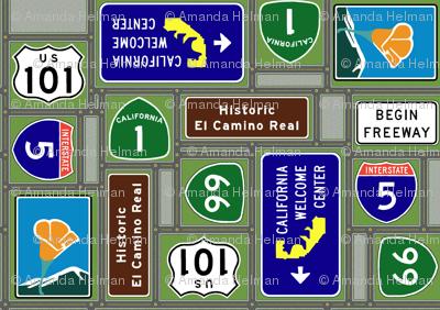 California Highway Patchwork