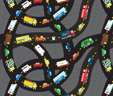 Bumper to Bumper fabric by jenimp on Spoonflower - custom fabric