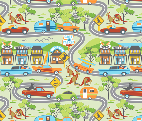 Are we there yet? fabric by cjldesigns on Spoonflower - custom fabric