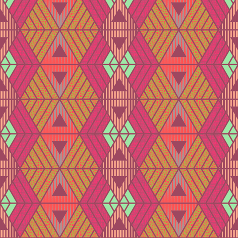African Geometric Summer fabric by kimsa on Spoonflower - custom fabric