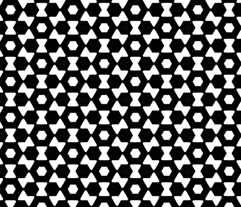 Zwanenberg Black  fabric by stoflab on Spoonflower - custom fabric