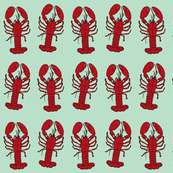 lobsters on blue
