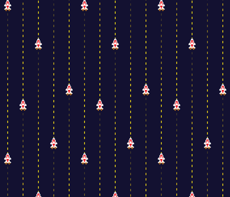 Space Shooter Pinstripe Navy fabric by audsbodkin on Spoonflower - custom fabric