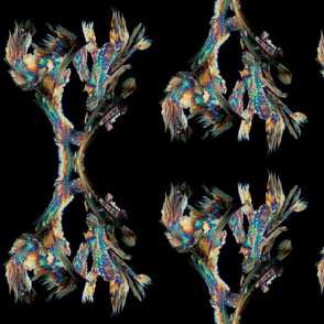 Chemical crystals (glycine / SDS / methanol) - polarised light microscopy