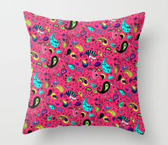 Colorful Paisley on Pink