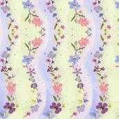 watercolor flower waves