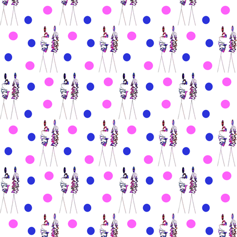 fashionmodels fabric by hemarana on Spoonflower - custom fabric