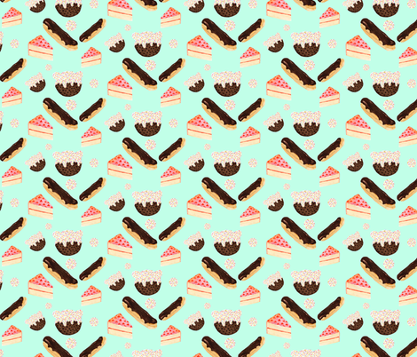 sweet things fabric by lauraredburn on Spoonflower - custom fabric