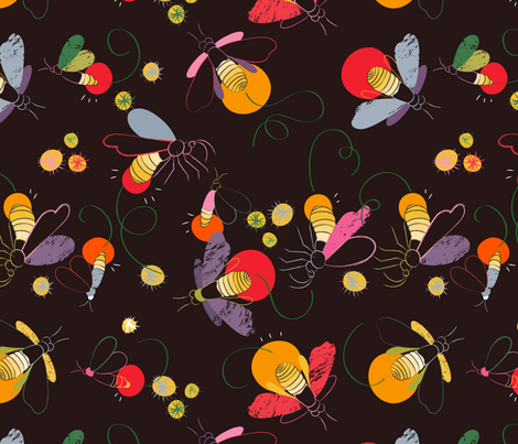 firefly fabric by pragya_k on Spoonflower - custom fabric
