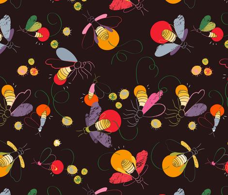 firefly fabric by pragya_k on Spoonflower - custom fabric