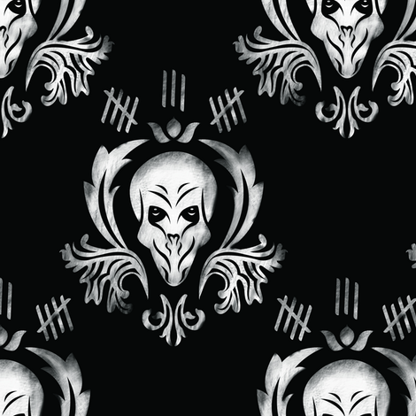 The Silence fabric by nerkquirks on Spoonflower - custom fabric