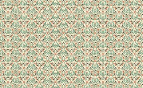 damask pastel fabric by myracle on Spoonflower - custom fabric
